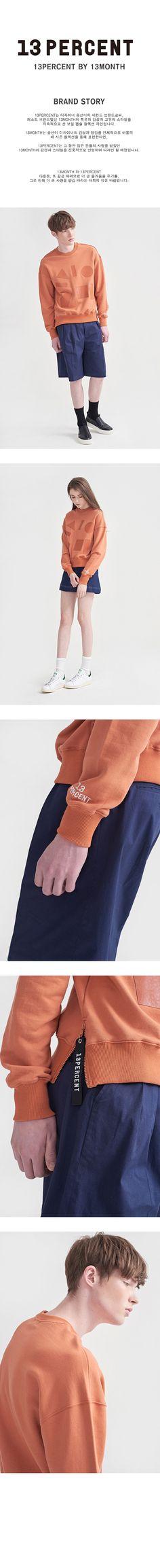 WIZWID:위즈위드 - [13month:써티먼스]Puzzle Sweatshirt Orange