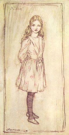 Alice In Wonderland -1907 - 3 Arthur Rackham original book plate prints - digitized (3) by NostalgiaObsession on Etsy