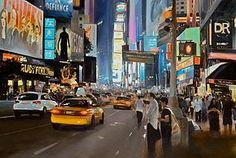 Artist becomes the pedestrian to paint incredible scenes of...