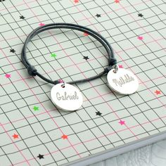 Bracelet cordon prénom