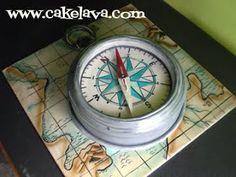 compass cake | cakelava: Compass Wedding Cake