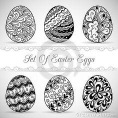 Insieme delle uova di Pasqua