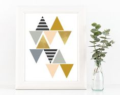 Geometric Art Print Home office wall art by MelimeDesignStudio