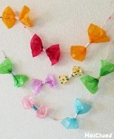 手作りリボンビーズ〜ストロー×花紙のアレンジ色々製作遊び〜 Butterfly Kids, Diy Toys, Diy For Kids, Diy And Crafts, Handmade, Color, Colour, Hand Made, Homemade Toys