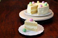 Easter Meyer Lemon Cheesecake Cake #easter