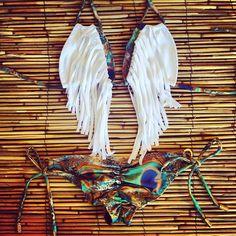 Peacock Fringe Bikini - They look like wings <3