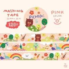 Printable Stickers, Cute Stickers, Cajas Silhouette Cameo, Note Doodles, Korean Stationery, Masking Tape, Washi Tapes, Journal Stickers, Aesthetic Stickers