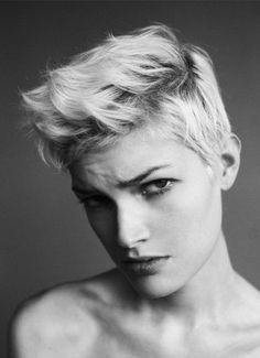 Boy cut--If I was ever brave enough to chop it all off, this is certainly what I would be going for!