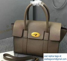 Classic Grain Bayswater Small Bag with Strap Gray 2017