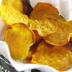 Golden Beet Chips : Love the earthiness of beets? If so, you're going to love these vibrant baked golden beet chips. Not only will they liven up your lunch but they taste pretty good too.