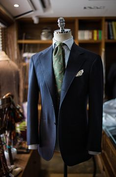 B&TAILOR Navy Sports Coat, B&TAILOR Shirts, B&TAILOR Tie All at B&TAILOR
