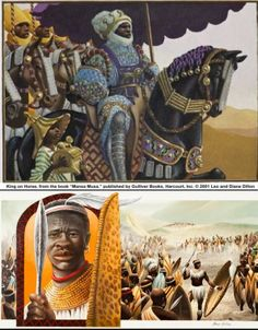 King Mansa Musa I (Emperor) was an important Malian king, ruling from 1312 to 1337 Musa ruled the Mali Empire his worth the equivalent of $400 billion in today's currency, which makes him the richest man in the last 1000 years of human history -a  master businessman & economist  gained his wealth through Mali's supply of gold, salt and ivory, the  main commodities for most of the world during that time. Shaka, king of the Zulus (1787) inherited the throne of father Zulu Chief Senzangakhona.