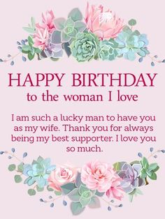 91 Best Happy Birthday Wishes For Wife Images On Pinterest