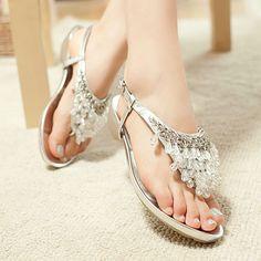 shoes - http://zzkko.com/n185367-lat-casual-sandals-bohemian-beaded-black-student-summer-flip-sandals-women-shoes-flat-heel-women-shoes.html $43.00
