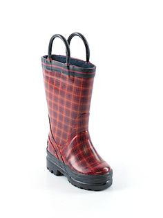 Practically New Size 5 Kids Lands' End Rain Boots for Boys