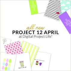 Capture your April adventures with the Project 12 April Edition. Digital Project Life, We Go Together, Major Holidays, Ups And Downs, Fun Projects, Holiday Fun, Scrapbooking, Paper Crafts, Social Media