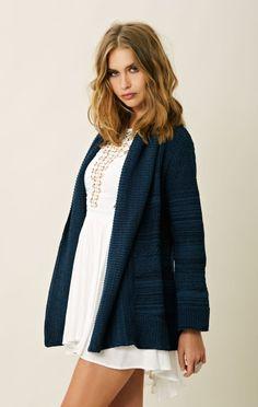 Goddis Open Front Long Sweater