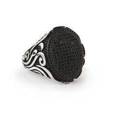 Men Ring 925 Silver,Natural Black Onyx Size 9-10-11 US Men's Gemstone Jewelry #IstanbulJewellery #Statement