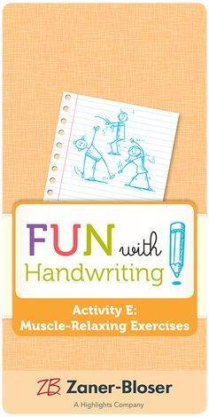 Teach teachers—and students!—how to recognize writing fatigue and provide relief. Fun suggestions get kids moving and re-positioned for writing excellence. Zaner Bloser Handwriting, Handwriting Activities, Kids Moves, Students, Muscle, Layout, Positivity, Teacher, Exercise