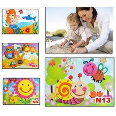 DIY Cartoon Animal 3D EVA Foam Sticker Puzzle Series E Early Learning Education Toys for Children Eva Crafts Toys For Kids Gifts