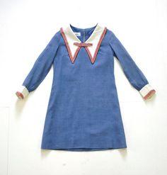 Etsy - Vintage 60s Peter Pan Collar Mini Dress from Moonrise Kingdom