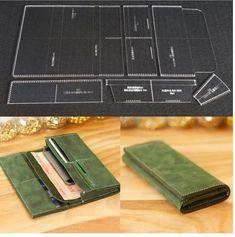1 대 DIY 긴 Wallet 아크릴 템플릿 가죽 Stencil (eiffel tower) 패턴 DI… – Leather Style Best Leather Wallet, Leather Wallet Pattern, Leather Gifts, Leather Bags Handmade, Diy Leather Craft Tools, Leather Projects, Diy Long Wallet, Diy Wallet, Leather Workshop