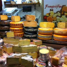one of many cheese shops in St Lawrence Market.
