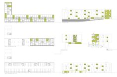 Image 7 of 91 from gallery of Social Housing: 45 Examples in Plan and Section. Planta e Cortes - Casa dos Caseiros / arquitetura design Social Housing Architecture, Co Housing, Architecture Graphics, Concept Architecture, Residential Architecture, In Plan, How To Plan, Property Development, What Inspires You