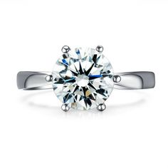 Price starts from 10.482$ to 10.818$ 1 carat Solitaire White Gold Engagement Ring. Available in 14K, 18K and in Platinum. The Ring has 1 carat Central stone. The clarity of the diamond is SI and the color is H, in a very good cut  The total gold weight of the ring starts approx. from 4g.  The width is 3mm