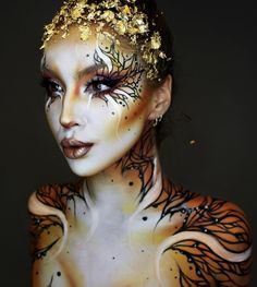 41 Most Jaw-Dropping Halloween Makeup Ideas That Are Still Pretty: Bambi Animal Makeup / Click though to see more awe inspiring pretty Halloween makeup looks, gorgeous Halloween makeup and Halloween costumes. Sfx Makeup, Costume Makeup, Makeup Art, Makeup Ideas, Makeup Tutorials, Makeup Tips, Cool Halloween Makeup, Pretty Halloween, Halloween Costumes