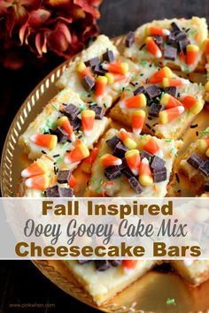 I am SUPER excited to share this recipe with you today. It is ONE YUMMY dessert. It screams Fall, and it will have EVERYONE within miles banging on your door for the recipe. Well, maybe not banging. Fall Recipes, Holiday Recipes, Pumpkin Recipes, Holiday Ideas, Ooey Gooey Cake, Gooey Bars, Vegetarian Cake, Glass Baking Dish, Cheesecake Bars