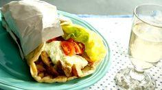 Domácí gyros v pitě No Salt Recipes, Tacos, Mexican, Ethnic Recipes, Food, Essen, Meals, Yemek, Mexicans