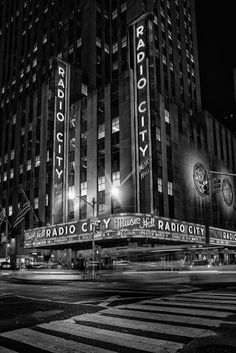 Radio City music hall Black and white nights by Alexander Marte Reyes