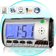 For fans of spy gear stuff or anyone that has fancy office memorabilia and items, you will like this video surveillance clock. This classic analog clock is perfect for keeping an eye on all your expensive collectibles. http://www.geekbuying.com/item/Stylish-Remote-Control-Motion-Detector-Digital-Clock-Style-Spy-Hidden-Camera-DVR-with-Web-Camera---Black-302404.html