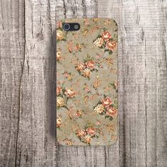 VINTAGE iPhone 5 case floral iPhone 5 case leaves by casesbycsera, $19.99