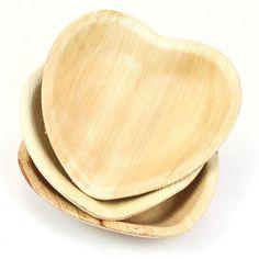 Heart Palm Leaf Plates