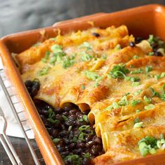 Chipotle Bean Enchiladas- black beans or pinto beans, which ever you prefer. Enjoy!