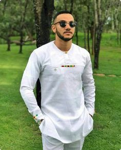 Ankara men's outfit,dashiki clothing, african men's attire, top and bottom, white executive African Shirts For Men, African Dresses Men, African Attire For Men, African Clothing For Men, African Wear, African Style, Nigerian Men Fashion, African Men Fashion, Mens Fashion