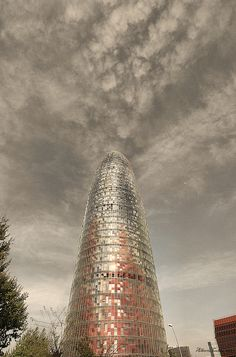 Torre Agbar, Barcelona. by Alberte Couto, via Flickr Barcelona Catalonia, Explore, Travel, Viajes, Destinations, Traveling, Trips, Exploring