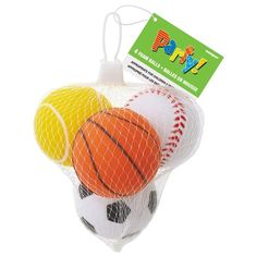 Foam Sports Ball Party Favors, 4ct Unique http://www.amazon.com/dp/B003P50S4A/ref=cm_sw_r_pi_dp_Kdm9vb0DQ43KV