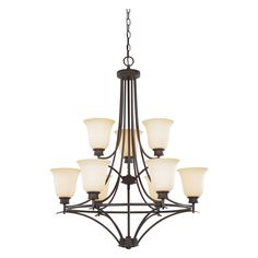 Designers Fountain 96989 Montego 9 Light Chandelier in oil-rubbed bronze finish   from hayneedle.com