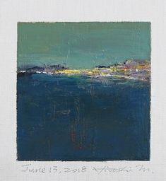 "June 13, 2018 9 cm x 9 cm (app. 4"" x 4"") oil on canvas © 2018 Hiroshi Matsumoto www.hiroshimatsumoto.com"