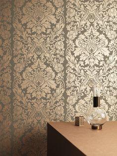 "Artisan Gloriana 33' x 20"" Damask Wallpaper"