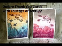 stampin up, Thank You, Ombre Card with Touches of Texture, Esther from S...