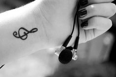 Find images and videos about music, tattoo and treble clef on We Heart It - the app to get lost in what you love. Music Symbol Tattoo, Treble Clef Tattoo, Music Tattoos, Tatoos, Symbol Tattoos, Piano Tattoos, Cool Small Tattoos, Great Tattoos, New Tattoos