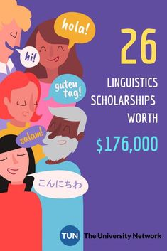 Here's a list of selected Linguistics Scholarships listed on The University Network. Saving For College, Online College, College Hacks, College Club, College Life, Scholarships For College, College Students, Linguistics Study, College Survival Guide