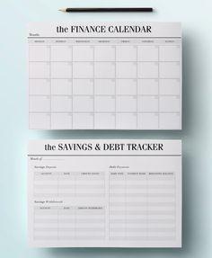 financial organizer planner