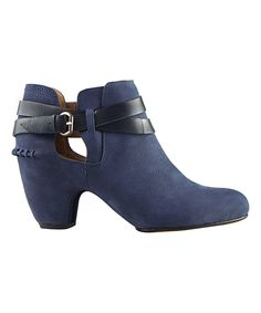 Look at this Corso Como Navy Othello Leather Bootie on #zulily today!
