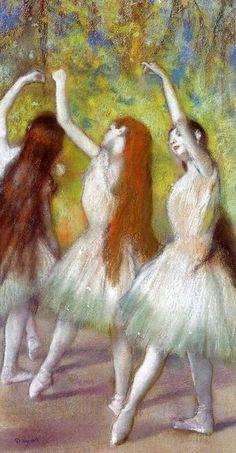 Edgar Degas Dancers in Green, 1878