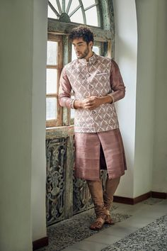 Unique New Groomwear Colour Combinations That You Can Give A Try In Engagement Dress For Groom, Wedding Outfits For Groom, Groom Wedding Dress, Indian Wedding Outfits, Wedding Attire, Mens Indian Wear, Mens Ethnic Wear, Indian Men Fashion, Man Fashion